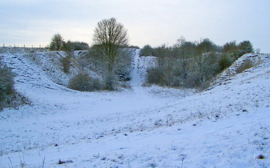 Chalk Pit under snow
